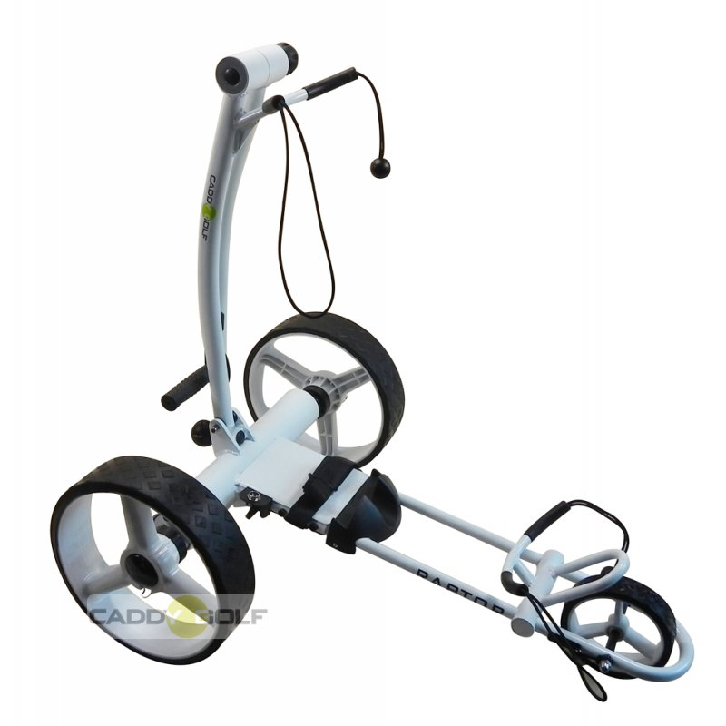 caddy golf raptor weiss elektro golf trolley mit lithiumakku 699 00. Black Bedroom Furniture Sets. Home Design Ideas